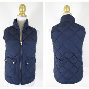J. Crew Navy Excursion Quilted Down Vest